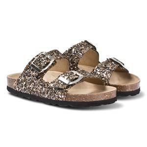 Petit by Sofie Schnoor Glitter Sandals Black/Gold 31 EU
