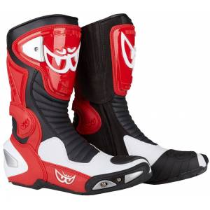 Berik Race-X Racing Motorsykkel støvler Svart Hvit Rød 45