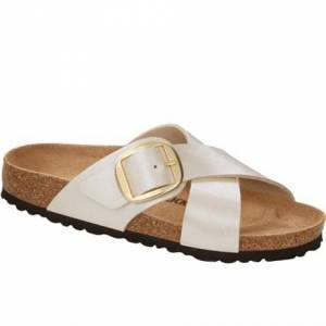 Birkenstock Sandaler Siena Big Buckle Graceful Pearl White