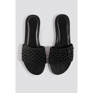NA-KD Shoes Braided Slip In Sandals - Black