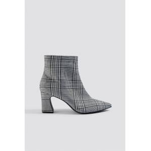 NA-KD Shoes Checked Ankle Boots - Grey