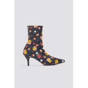 NA-KD Shoes Kitten Heel Sock Boot - Multicolor