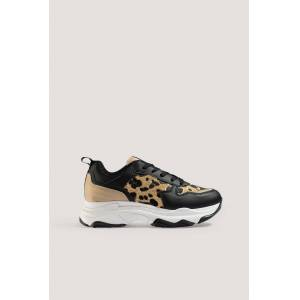 NA-KD Shoes Leopard Detailed Chunky Trainers - Multicolor
