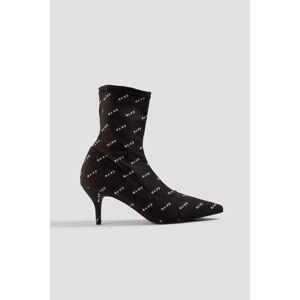 NA-KD Shoes NA-KD Sock Boots - Black