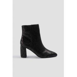 NA-KD Shoes Shimmery Structured Boots - Black