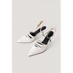 NA-KD Shoes Strap Detailed Slingback Pumps - White