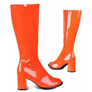 Orange Retro Boots