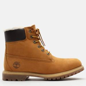 Timberland 6 Inch Premium Shearling Lined Boot Dame - Gul