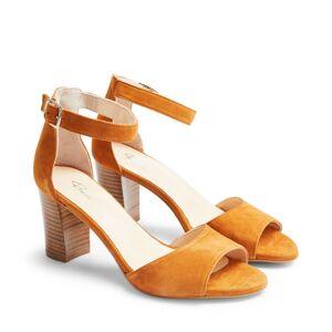Rizzo Alessandra sandaletter i mocka, Cognac, 38