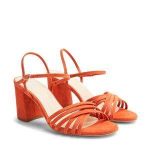 Rizzo Adina sandaletter i mocka, Orange, 36