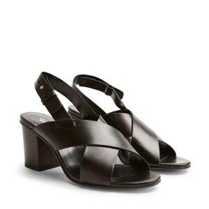 Rizzo Aprilia sandaletter i skinn, Svart, 41