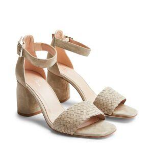 Rizzo Adelia sandaletter i mocka, Mörkbeige, 41