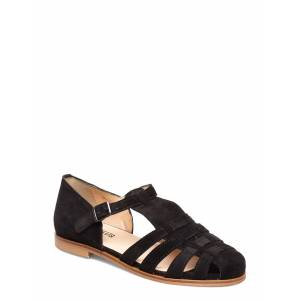 ANGULUS Sandals - Flat - Closed Toe - Op Platta Sandaler Svart ANGULUS