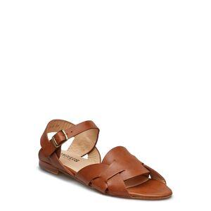 ANGULUS Sandals - Flat Platta Sandaler Brun ANGULUS