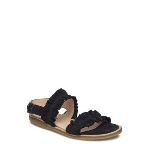 ANGULUS Sandals - Flat - Open Toe - Op Platta Sandaler Svart ANGULUS