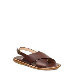 ANGULUS Sandals - Flat - Open Toe - Op Platta Sandaler Brun ANGULUS