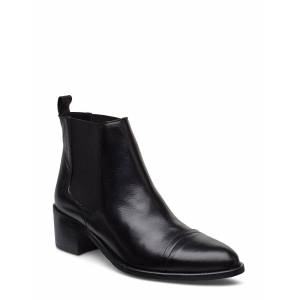 Bianco Biacarol Dress Chelsea Shoes Boots Ankle Boots Ankle Boots With Heel Svart Bianco