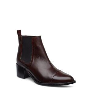 Bianco Biacarol Dress Chelsea Shoes Boots Ankle Boots Ankle Boots With Heel Brun Bianco
