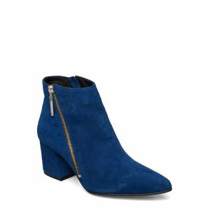 Bianco Biacalais Suede Ankle Boot Shoes Boots Ankle Boots Ankle Boots With Heel Blå Bianco