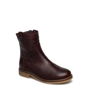 Bianco Biaatalia Winter Leather Boot Shoes Boots Ankle Boots Ankle Boots Flat Heel Brun Bianco