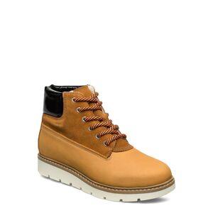 Bianco Biaanli Winter Wedge Boot Shoes Boots Ankle Boots Ankle Boots Flat Heel Brun Bianco