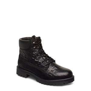 Bianco Biacharlie Winter Hiking Boot Shoes Boots Ankle Boots Ankle Boots Flat Heel Svart Bianco