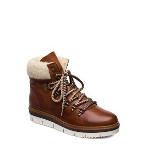 Bianco Biastela Winter Hiking Boot Shoes Boots Ankle Boots Ankle Boots Flat Heel Brun Bianco
