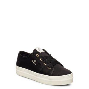 GANT Leisha Low Lace Shoes Låga Sneakers Svart GANT