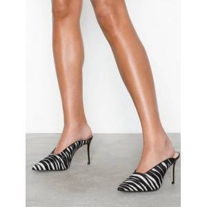 River Island Zebra Mules High Heel