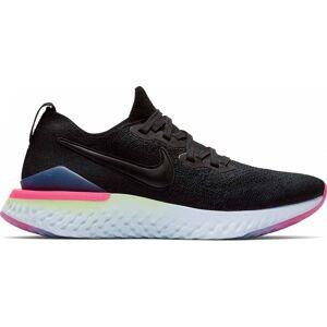 Nike - Epic React Flyknit 2 Dam löparskor (svart/blå) - EU 38,5 - US 7,5