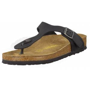 Birkenstock Gizeh Regular Black Leather, Skor, Sandaler & Tofflor, Flip Flops, Brun, Dam, 36