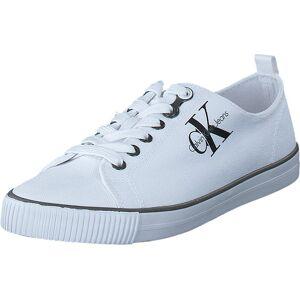 Calvin Klein Jeans Dora Canvas White, Skor, Sneakers och Träningsskor, Låga sneakers, Vit, Dam, 37
