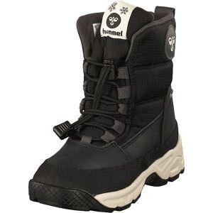 Hummel Snow Boot Low Jr Black, Skor, Kängor och Boots, Varmfodrade kängor, Brun, Svart, Barn, 28