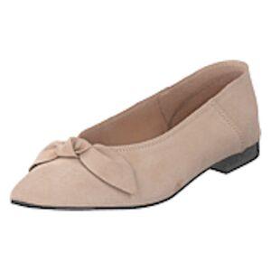 Bianco Berna Suede Bow Shoe 281 - Sand 1, Shoes, brun, EU 36