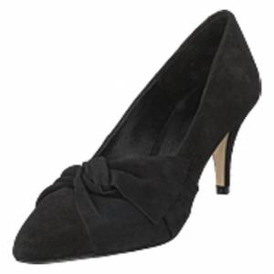 Bianco Zita Suede Bow Pump 101 - Black 1, Shoes, svart, EU 36