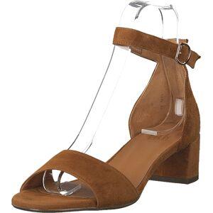 Billi Bi 6634 Cognac Suede, Skor, Klackskor, Lågklackade sandaletter, Brun, Dam, 39