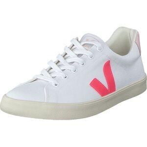 Veja Esplar Se White/rose Fluo/petale, Skor, Sneakers och Träningsskor, Låga sneakers, Vit, Dam, 37