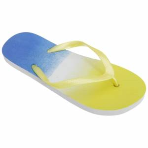 FLOSO Womens/damer två ton färg blekna Toe Post Flip Flops