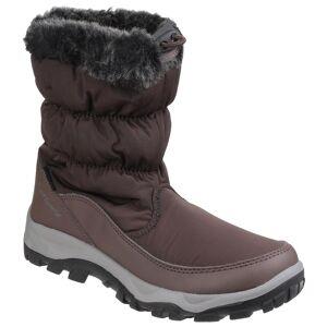 Cotswold dam/damer Frost Pull på päls Trim vinter stövlar
