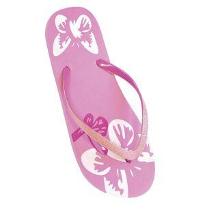 FLOSO damer/Womens fjäril flip-flops med glitterband