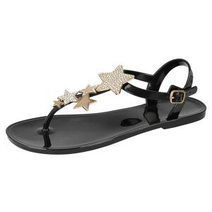 SPOTON Spot On Womens/damer stjärna detalj ankel Strap sandaler