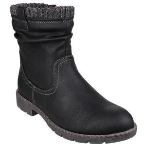 Divaz Womens/damer Lucca Zip upp stickad mudd Ankle Boot