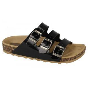 SPOTON Plats på Womens/damer tre spänne Mule sandaler