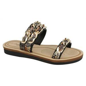 Savannah Womens/damer flätad kedja sandaler