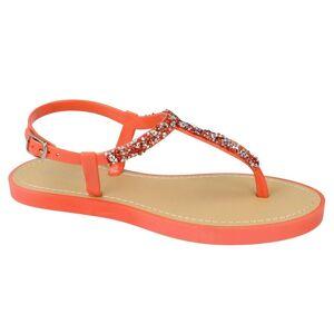 Savannah Womens/damer krossade Diamante öppen tå sandaler