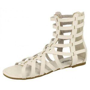 Savannah Womens/damer Aztec klipp ut detalj sandaler Vit 5 UK