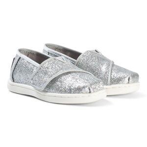 Toms Silver Glitter Alpargarta Espadrilles 27 (UK 9)