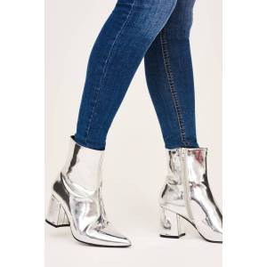 Gina Tricot Cleo ankle boots Silver 37