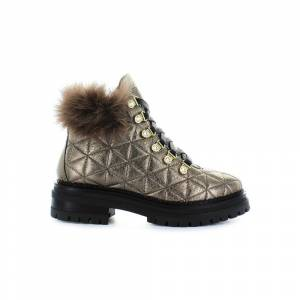 Stokton Bronze Quilted Leather Boots