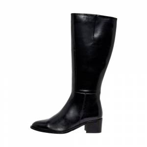 Bianco Leather boots Zip-up